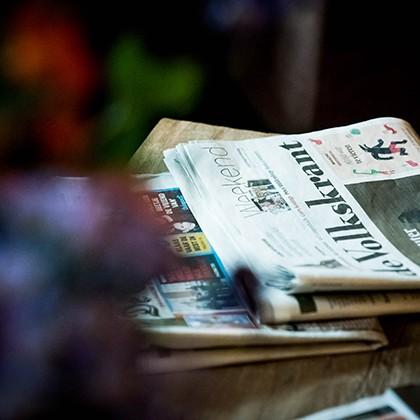 De krant bij het ontbijt
