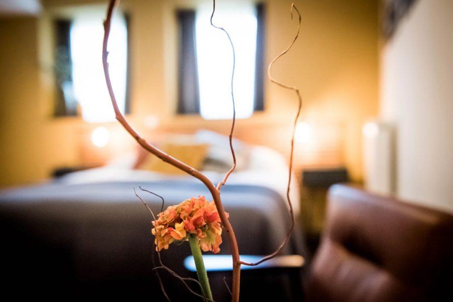 Bloemen in een kamer