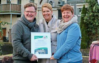 Burgemeester huldigt Dalauro Bed & Breakfast als ambassadeur van Cittaslow